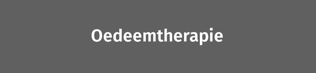 Oedeemtherapie