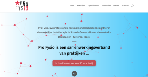 homepage Pro Fysio